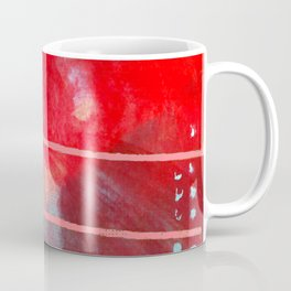Jubilee: a vibrant abstract piece in reds and pinks Coffee Mug
