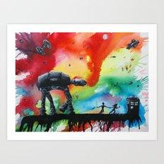 Star Wars + Dr. Who Art Print