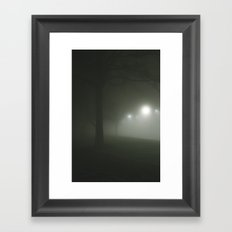 Night fog Framed Art Print