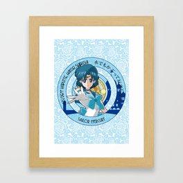 Sailor Mercury - Crystal Intro Framed Art Print