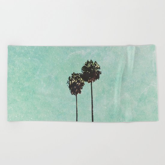 Brisbane Palm Trees Beach Towel