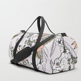 Tropical pattern pastel Duffle Bag