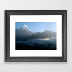 Mountains at Sunrise Poon Hill Framed Art Print