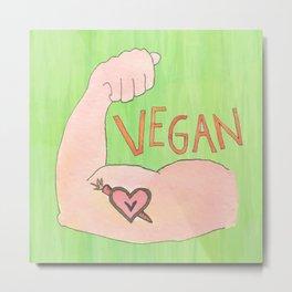 Vegan Strong Metal Print
