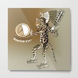Pre-Columbian  Jaguar Shaman Metal Print