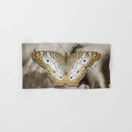Yellow White Butterfly Modern Country Modern Cottage Chic A495 Hand & Bath Towel