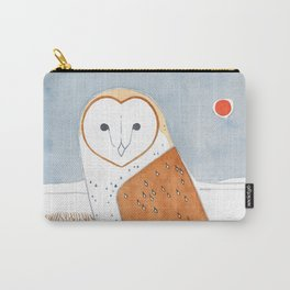 Barn Owl Winter Landscape Carry-All Pouch
