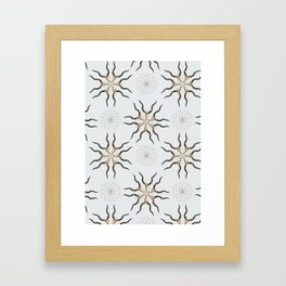 KUDO Skull Pattern Series Framed Art Print