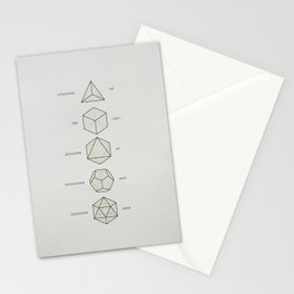 The Platonic Solids Stationery Cards