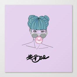 #Bae by Silvana Arias Canvas Print