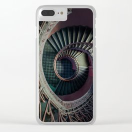Art Deco spiral staircse Clear iPhone Case