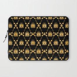 Classique Art Deco Gold Butterfly Pattern Laptop Sleeve