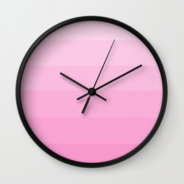 Soft Pastel Pink Hues - Color Therapy Wall Clock
