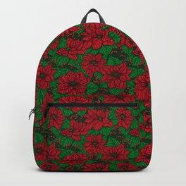 Poinsettia, Christmas pattern Backpack