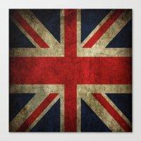 british flag Canvas Prints featuring British flag by Beauti Asylum