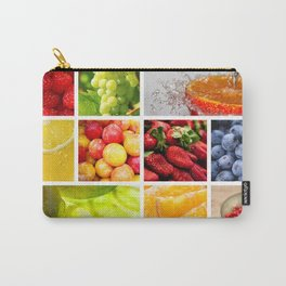 Colorful & Vibrant Fruit Collage Carry-All Pouch
