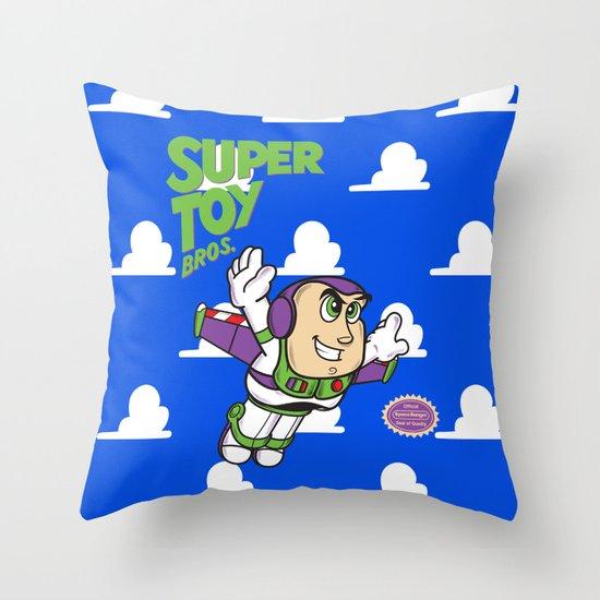 Super Toy Bros. Throw Pillow