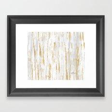 Gold Birch Framed Art Print