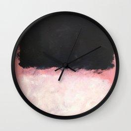 Mark Rothko - Untitled - Pink and Black Artwork Wall Clock