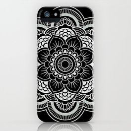 mandal black iPhone Case