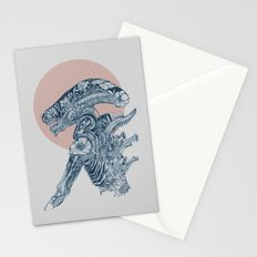 Floral Alien Stationery Cards