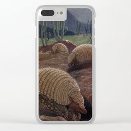 Vintage Armadillo Painting (1909) Clear iPhone Case