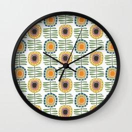 MCM Sunflowers Wall Clock