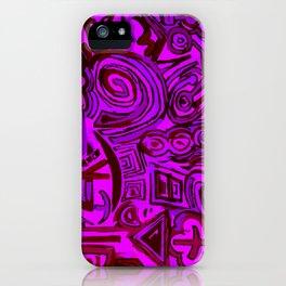 Magenta symbols iPhone Case