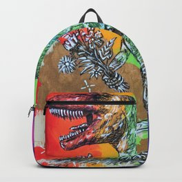 T-Rex with Flowers - Pride Backpack