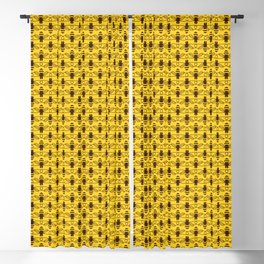 Be safe - save bees Blackout Curtain