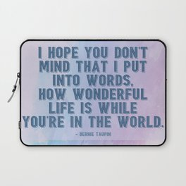 How Wonderful Life Is Taupin Quote Moulin Movie Laptop Sleeve