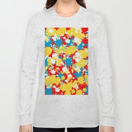Abstract Floral Pattern Design Long Sleeve T-shirt