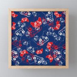 Video Game Red White & Blue 2 Framed Mini Art Print