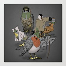 Robin and his merry friends. Canvas Print