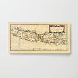 Map Of Java 1764 Metal Print