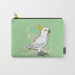 Fluffy The Sulphur Crested Cockatoo Carry-All Pouch