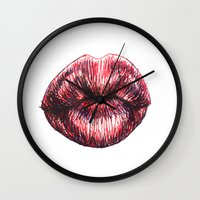 the xx Wall Clocks featuring xx by smudgeofpaint