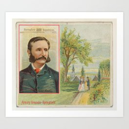 Samuel Bowles, Springfield Republican, from the American Editors series (N1) for Allen & Ginter Ciga Art Print