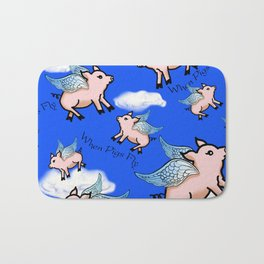 When Pigs Fly Bath Mat