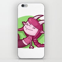 capricorn iPhone & iPod Skins featuring Capricorn by Chiara Zava