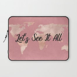 Lets See It All - Rosegold World Map Laptop Sleeve