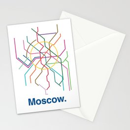 Moscow Transit Map Stationery Cards