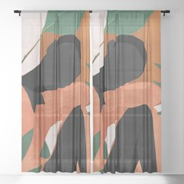 Tropical Girl 10 Sheer Curtain