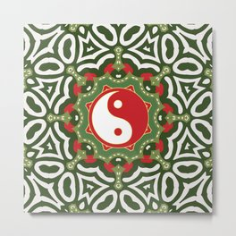 Holiday Festive Balance Yin Yang Metal Print