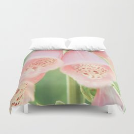 Pastel Foxgloves Duvet Cover