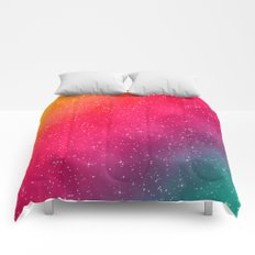 Colorful Galaxy Comforters