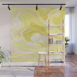 Cute Yellow Marble Design Wall Mural