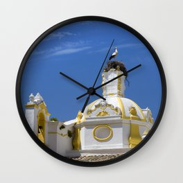 Stork on dome Wall Clock