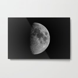 First Quarter Phase of the Moon Metal Print
