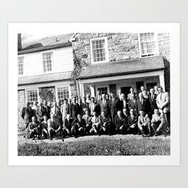 Group of Men in Front of Building Art Print